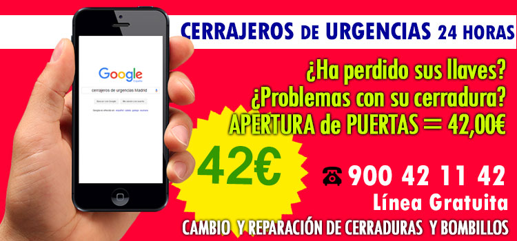 cerrajeros urgencias Madrid 24 horas