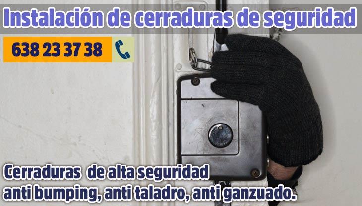 Instalación de cerraduras de alta seguridad