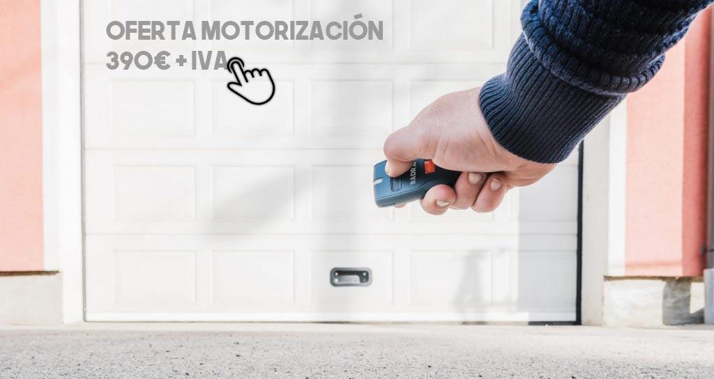 Motorización puertas de garaje Rivas Vaciamadrid